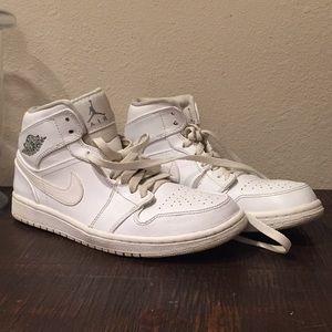White Nike Air Jordans